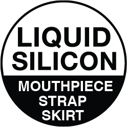 Liquid Silicone (mouthpiece, strap, skirt)